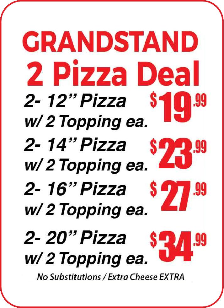 Grandstand 2 Pizza