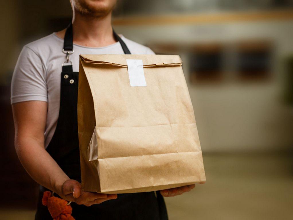 Man delivering food - Italian Food Delivered to Your Door